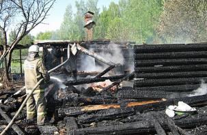 В Сычевском районе сгорела баня