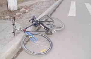 В Гагарине велосипедист попал под колеса иномарки