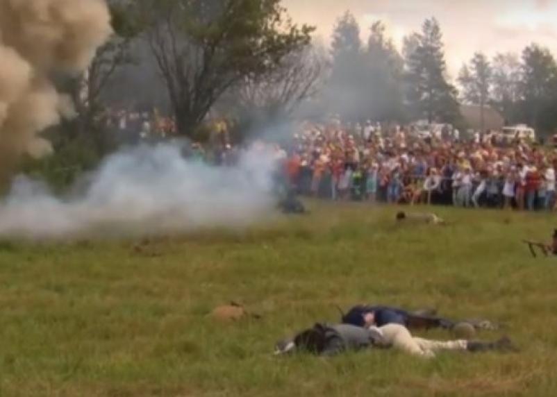 Появилось видео «первого партизанского боя на Смоленщине»