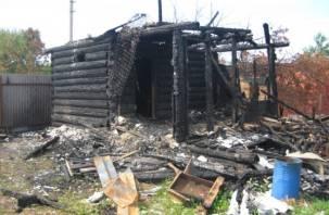 В смоленской Бабке сгорела баня