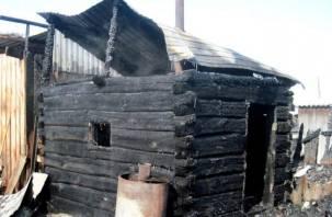 В горящей бане пострадала пожилая смолянка