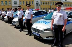 Смоленские дорожные полицейские получили новые автомобили