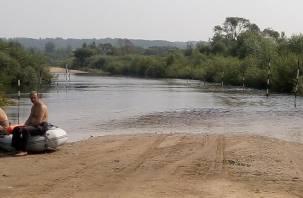 В Дорогобужском районе затопило дороги