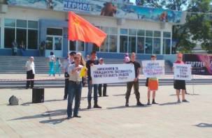Алашеева — в отставку! Смоленские маршрутчики провели митинг протеста