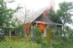 В Смоленской области в огне пострадал мужчина