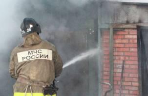 Гараж и две машины сгорели в Починковском районе