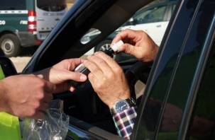 Около 50 пьяных водителей пойманы на дорогах Смоленщины