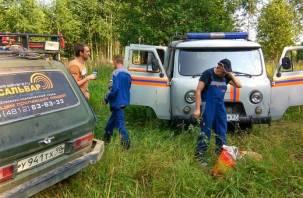 Смоленские спасатели помогли выйти из леса заблудившимся грибникам