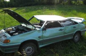 Под Сафоновом два человека пострадали, вылетев на машине в кювет