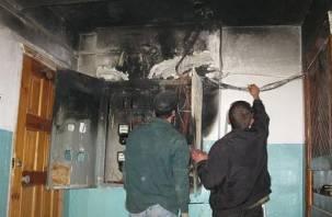 В Вязьме из-за короткого замыкания едва не загорелась многоэтажка