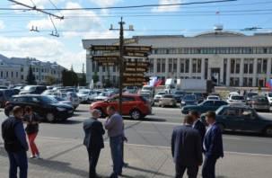 Смоленску и другим городам-побратимам открыли столб в Калуге