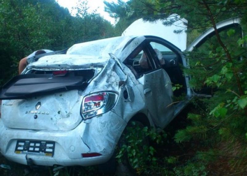 В Ершичском районе водитель авто оказался в кювете