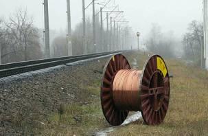 Четверо вязьмичей украли провода с железной дороги
