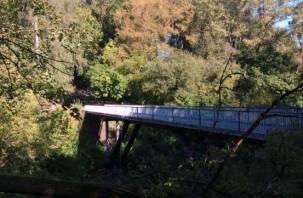 В Смоленске отремонтировали перила Чертова моста