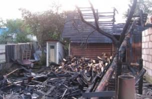 В Смоленской области огнем уничтожено частное подворье
