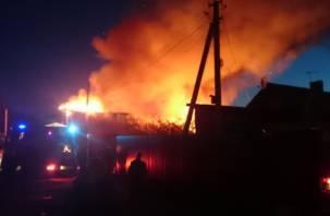 В Смоленске в горящем доме погиб мужчина