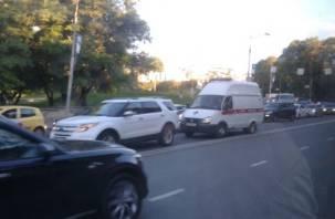 Ремонт моста через Днепр остановил центр Смоленска
