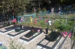 В Ярцевском районе вандалы устроили разгром на кладбище