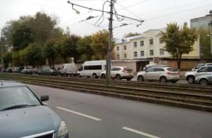 ДТП с «догонялками» в Смоленске собрало пробку