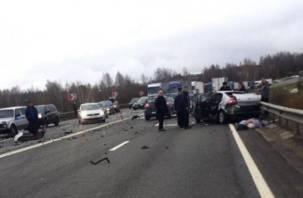 На видео попали последствия ДТП с двумя погибшими под Смоленском