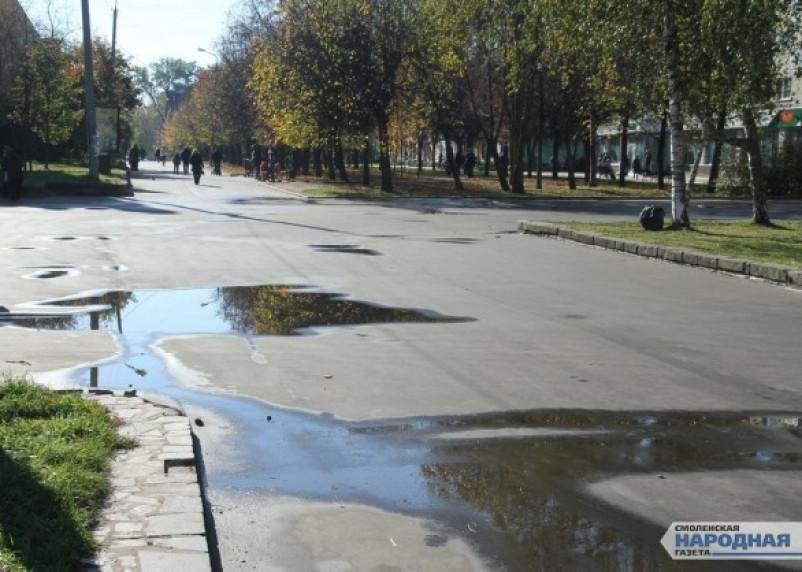 Ремонт главной пешеходной улицы Смоленска превратился в халтуру. Фоторепортаж