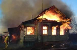 На Смоленщине сгорел жилой дом