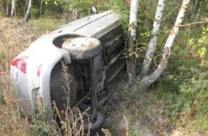 В Смоленском районе два авто вылетели в кювет