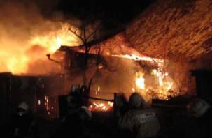 В Рославльском районе горели две бани