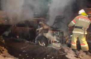 На Смоленщине в результате ДТП сгорел автомобиль, пострадал водитель