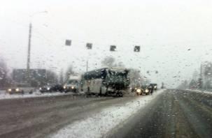 В Сафоновском районе произошло ДТП с участием пассажирского автобуса