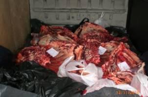 Белорусскую говядину облили зеленкой под Смоленском