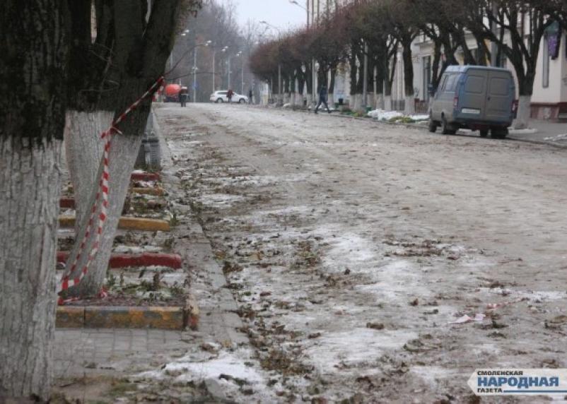 Центр Смоленска зарастает в грязи. Фоторепортаж