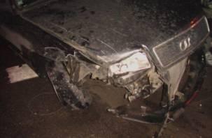 Под Смоленском столкнулись пять автомобилей, два человека пострадали