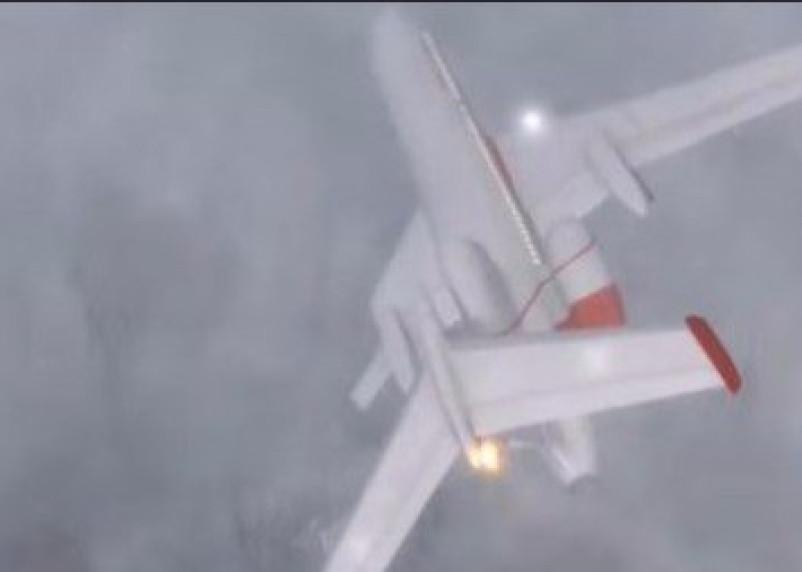 Опубликована видеореконструкция последних секунд перед крушением Ту-154 под Смоленском