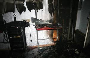 В Вязьме сгорела парикмахерская