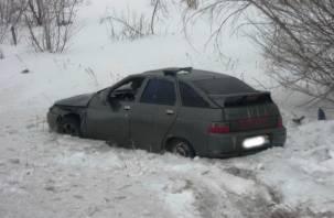 В Починковском районе водитель легковушки опрокинулся в кювет