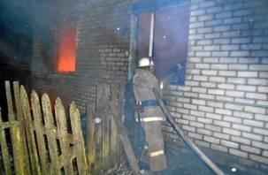 В поселке Красный при пожаре погиб мужчина