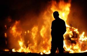В Сафоновском районе поймали поджигателя