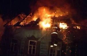 В Смоленском районе сгорел жилой дом
