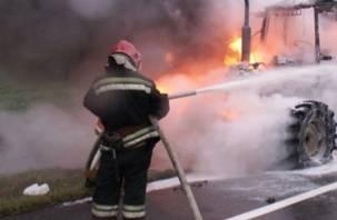 В Ярцеве сгорел трактор