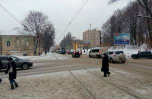 Пробка из девяти трамваев образовалась в центре Смоленска