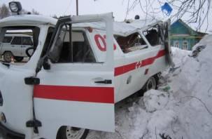В Рославле в ДТП со скорой пострадала женщина