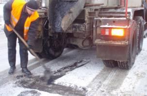 Стало известно, на каких улицах Смоленска на этой неделе проведут ямочный ремонт