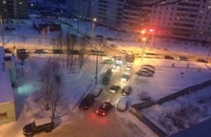 Три микрорайона Смоленска стоят в пробках