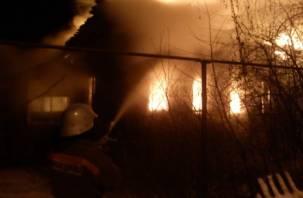 В первый день Нового года смолянин погиб в горящем доме