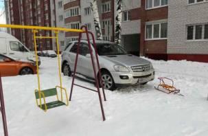 Смолянин получил штраф за фотографию иномарки на детской площадке