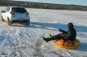 Смоленский подросток едва не погиб, катаясь на привязанной к машине «ватрушке»