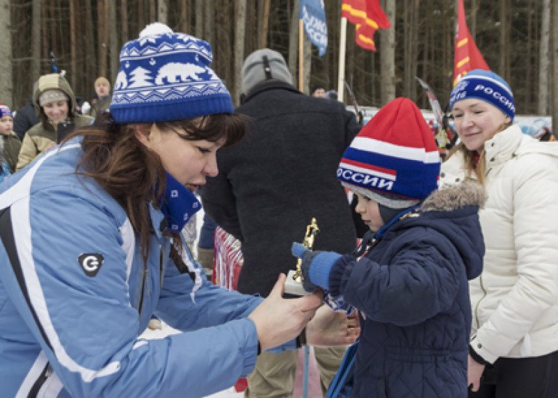 Трехлетний житель Вязьмы поучаствовал в «Лыжне России»