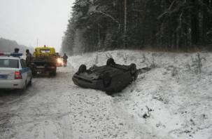 В Руднянском районе в опрокинувшемся авто пострадал подросток