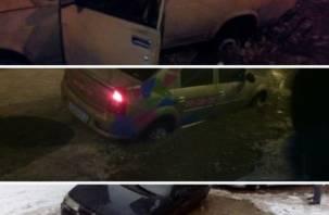 Огромная яма на Киселёвке продолжает поглощать автомобили
